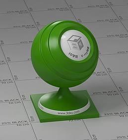 草绿色塑料vray材质