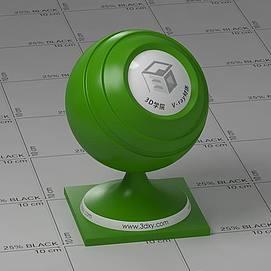 草绿色塑料Vary材质球球