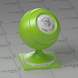 绿色塑料Vary材质球球