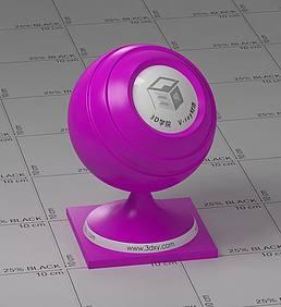 紫色塑料vray材质