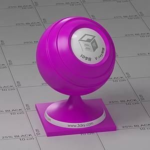 紫色塑料Vary材質球球