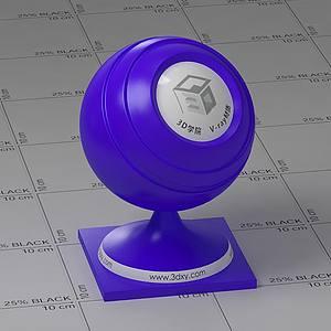 藍色塑料Vary材質球球