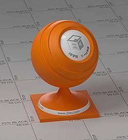 橙色塑料vray材质