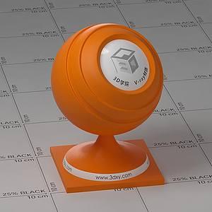 橙色塑料Vary材質球球