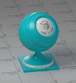 浅蓝色塑料vray材质