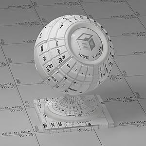 鍵盤Vary材質球球