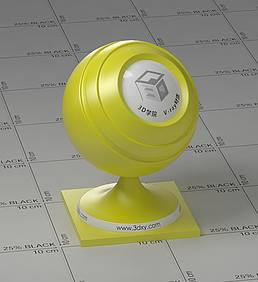 黄色塑料vray材质