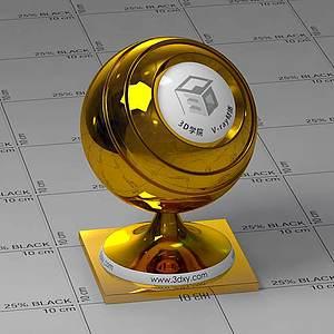 金塊Vary材質球球