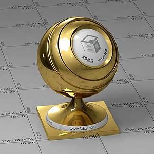 金子Vary材質球球