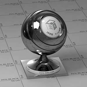 鉻片Vary材質球球