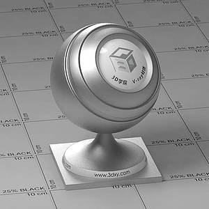 灰色金屬Vary材質球球