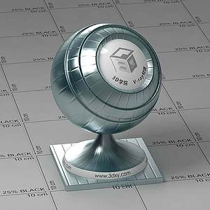 淺藍色金屬Vary材質球球