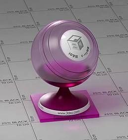 暗紫色玻璃vray材质