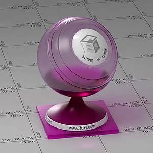 暗紫色玻璃Vary材質球