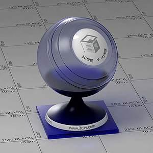 暗藍色玻璃Vary材質球