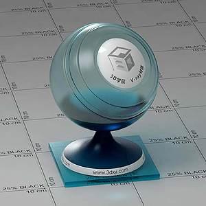 暗兰色玻璃Vary材质球