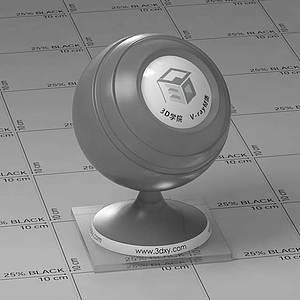 灰色玻璃Vary材質球