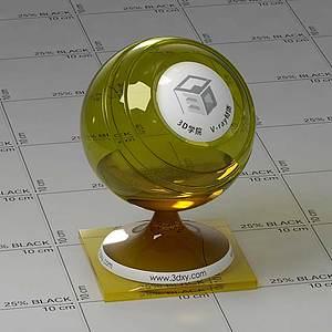汽车玻璃Vary材质球球