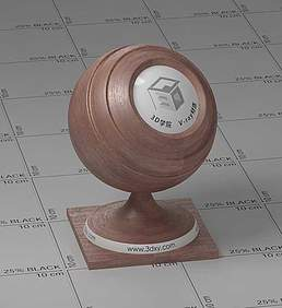 棕色木头vray材质