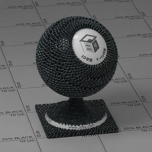黑色網格布Vary材質球