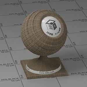 棕色亞麻布Vary材質球