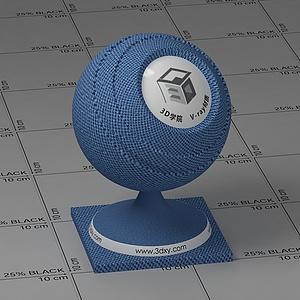 蓝色布料Vary材质球