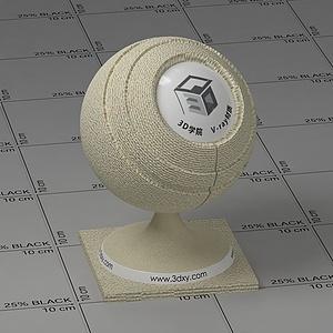 米色麻布Vary材質球