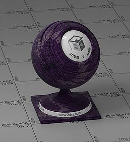紫色花纹布vray材质