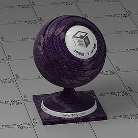 紫色花纹布Vary材质球