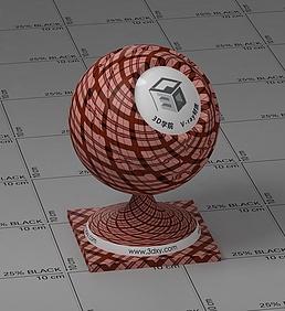 红色格子布vray材质