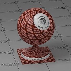 红色格子布Vary材质球