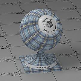 蓝色格子布Vary材质球