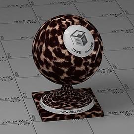 豹纹地毯Vary材质球球