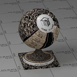 欧式花纹地毯Vary材质球球
