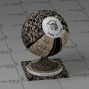 歐式花紋地毯Vary材質球球