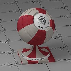 红白条纹布Vary材质球球