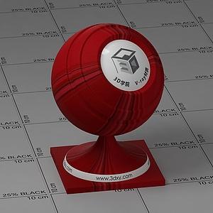 紅色墻布Vary材質球球
