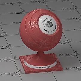 红色花纹墙布Vary材质球球