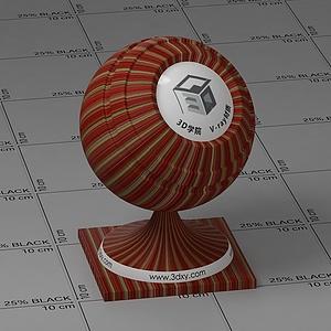 红色墙布Vary材质球球