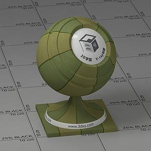 軍綠格子布Vary材質球球