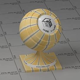 黄色墙布Vary材质球球