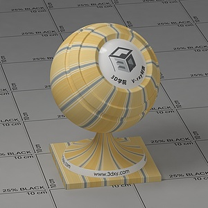 黃色墻布Vary材質球球