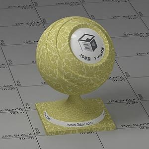 黃色花布Vary材質球球