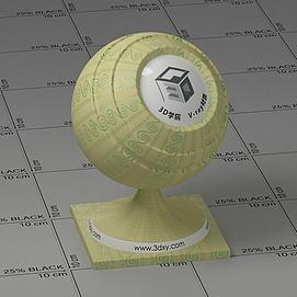 黄色花布Vary材质球球