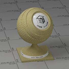 黄色条纹布Vary材质球球