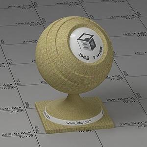 黃色條紋布Vary材質球球