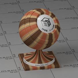 黄褐色墙布Vary材质球球