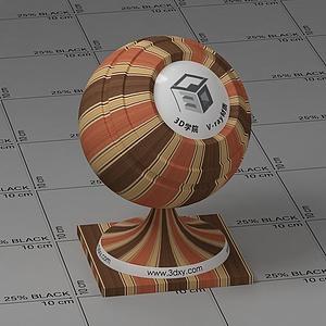 黃褐色墻布Vary材質球球