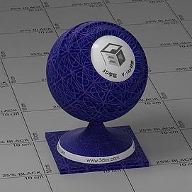 蓝色花布Vary材质球球
