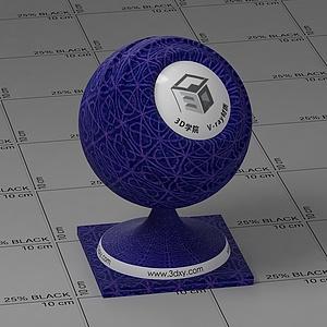 藍色花布Vary材質球球